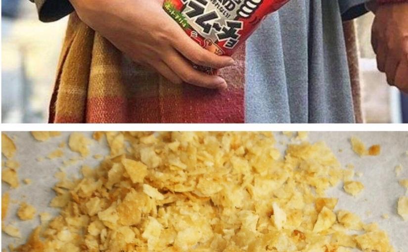 In Giappone arrivano le patatine già sbriciolate, per mangiarle senza sporcarsi lemani