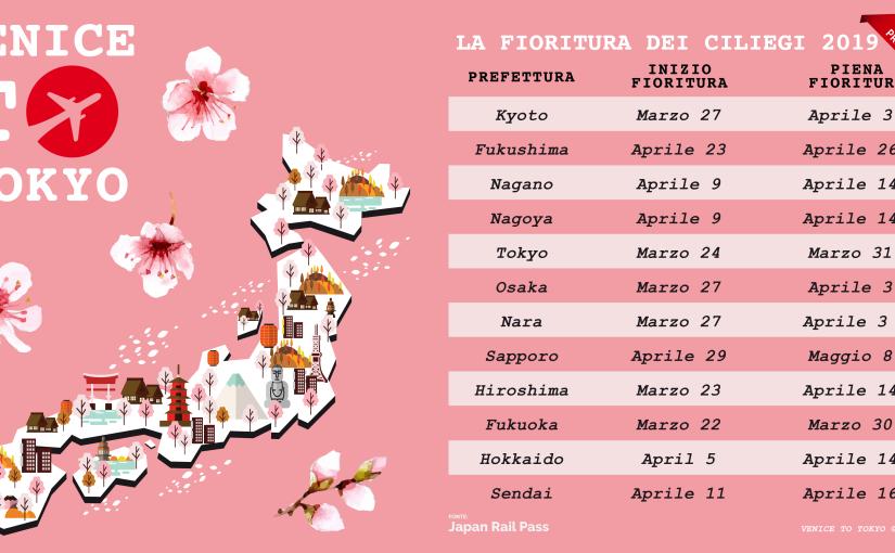 Seconda previsione ufficiale Sakura2019